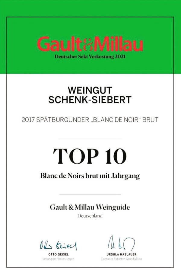 Pinot Blanc de Noir Brut trocken • Weingut Schenk-Siebert