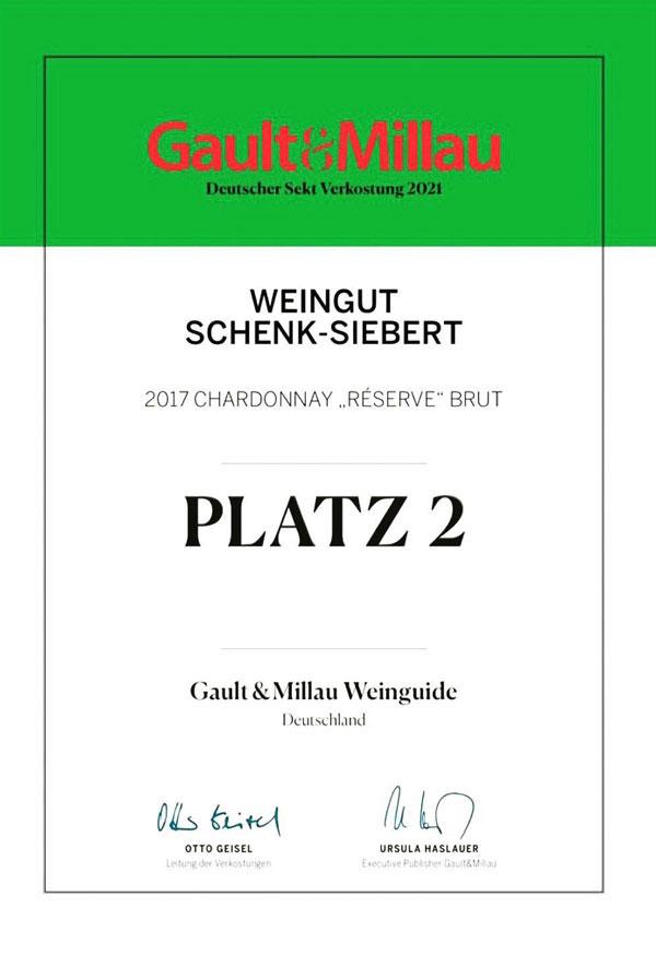 Chardonnay Sekt Brut Reserve trocken • Weingut Schenk-Siebert