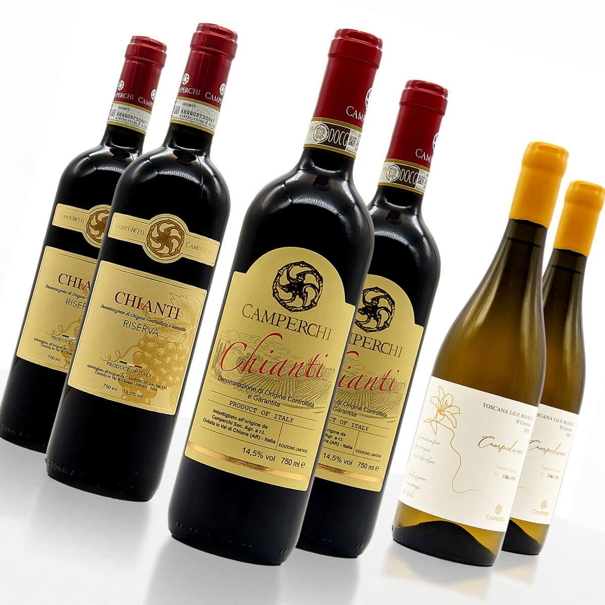 """Weinpaket """"Perlen der Toskana"""" (XL) • Weingut Camperchi • Italien"""
